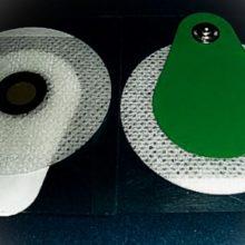 Elettrodo Circolare In TNT Pregellato Con Gel Solido, Sensore In Ag/AgCl E Connessione A Clip Decentrata, Diam. 50 Mm